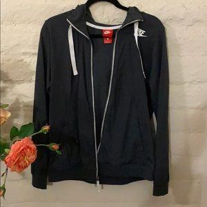 Nike Grey Zip Up Hoodie